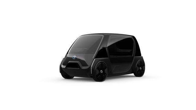 Ultra-compact black EV from Toyota.