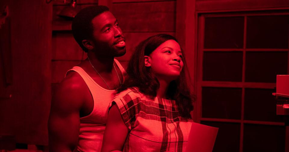 """Nora (Chanté Adams) and Isaac (Y'lan Noel) in """"The Photograph."""" (Photo: NBC Universal)"""