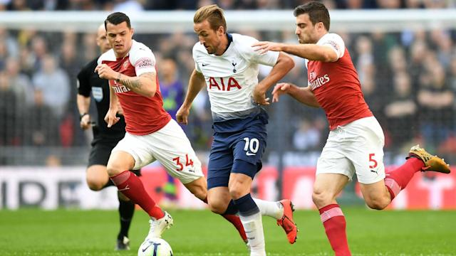 His ninth goal in nine Premier League games against Arsenal saw Tottenham's Harry Kane become the leading scorer in north London derbies.