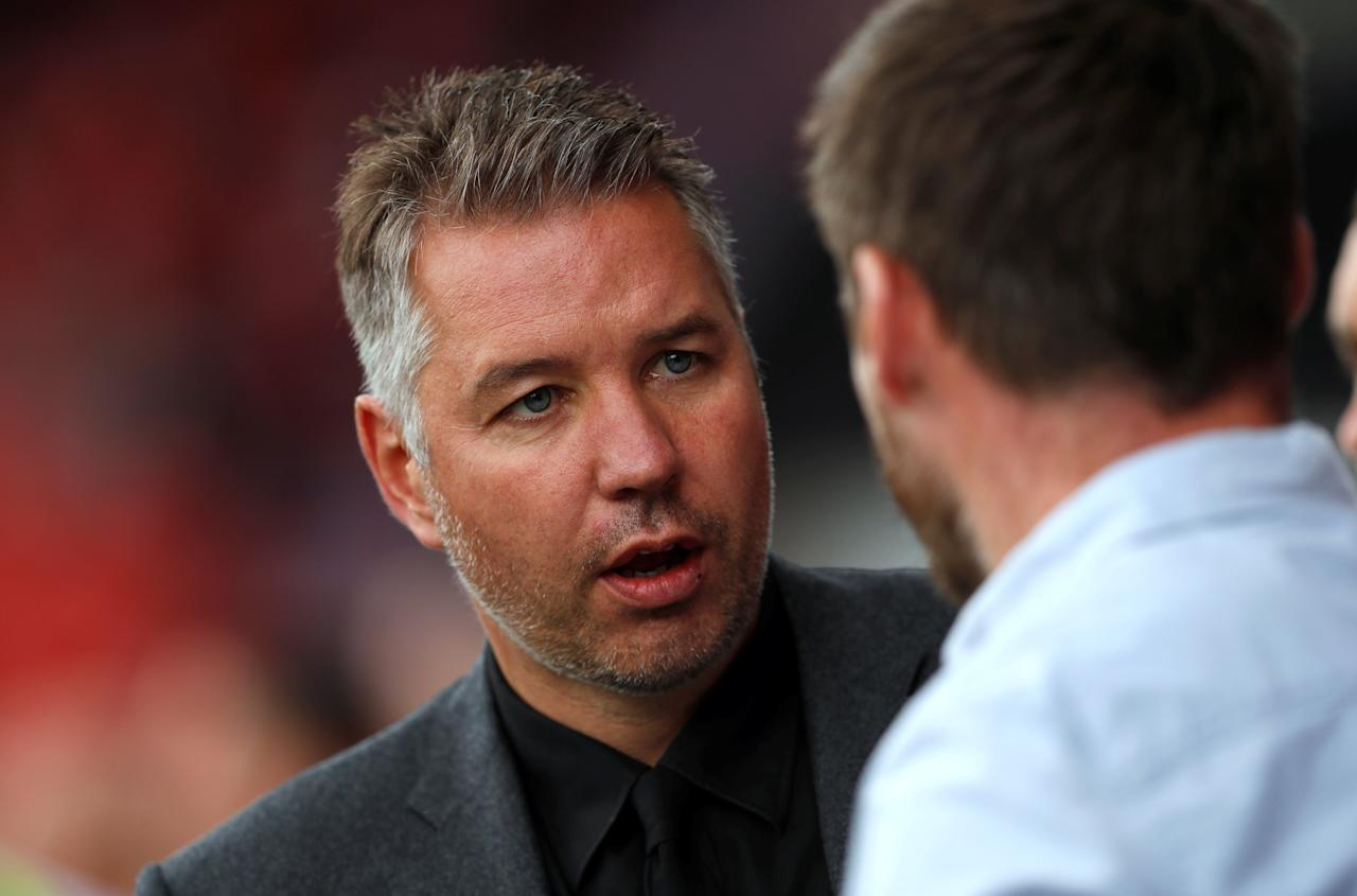 """Soccer Football - League One - Doncaster Rovers vs Scunthorpe United - Keepmoat Stadium, Doncaster, Britain - September 17, 2017   Doncaster manager Darren Ferguson   Action Images/Lee Smith    EDITORIAL USE ONLY. No use with unauthorized audio, video, data, fixture lists, club/league logos or """"live"""" services. Online in-match use limited to 45 images, no video emulation. No use in betting, games or single club/league/player publications. Please contact your account representative for further details."""