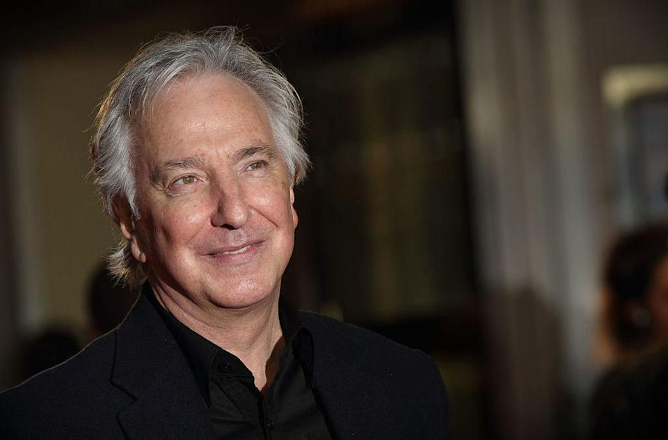 Alan Rickman at the premiere of one of his films