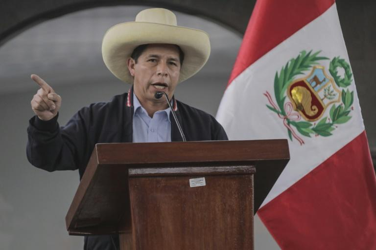 Peru's leftist presidential candidate Pedro Castillo, pictured June 25, 2021, took a majority of votes according to the unconfirmed count