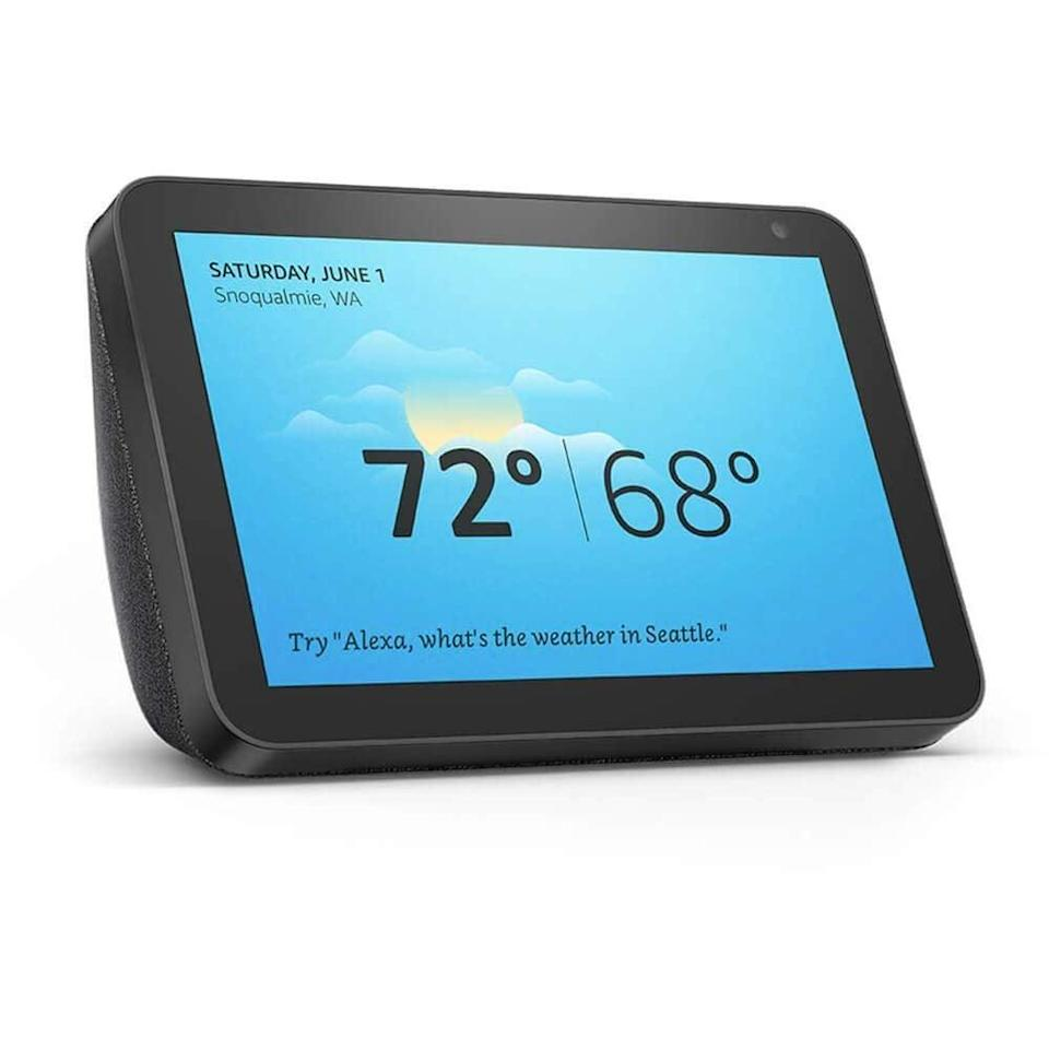 """<br><br><strong>Amazon</strong> Echo Show 8, $, available at <a href=""""https://amzn.to/3lJXdt5"""" rel=""""nofollow noopener"""" target=""""_blank"""" data-ylk=""""slk:Amazon"""" class=""""link rapid-noclick-resp"""">Amazon</a>"""