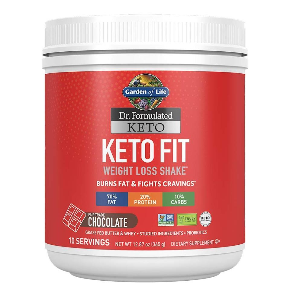 Fat is key in the land of Keto—this shake will fill you up with the good stuff. (Photo: Amazon)