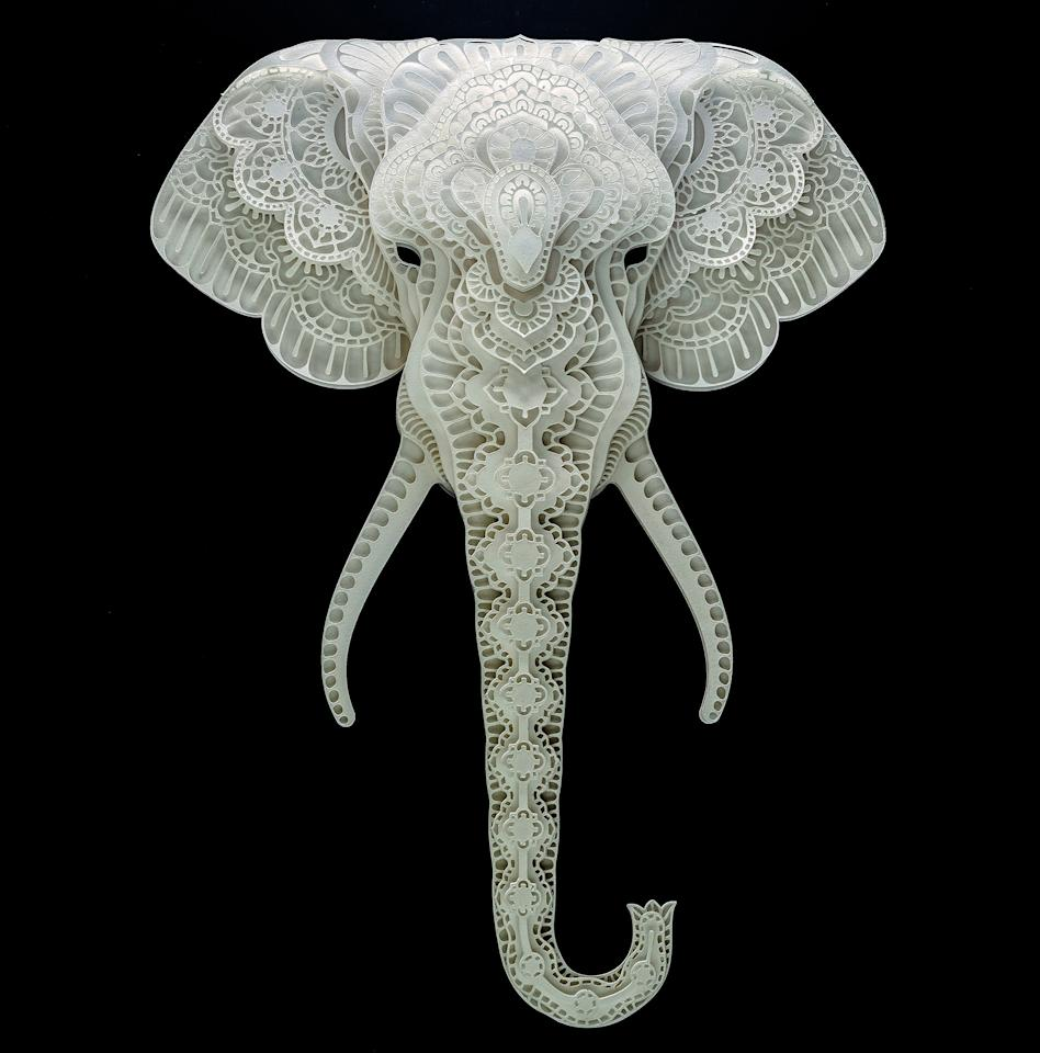 <p>News Intricate paper cut out of an elephant. (Photo: Patrick Cabral/Caters News </p>