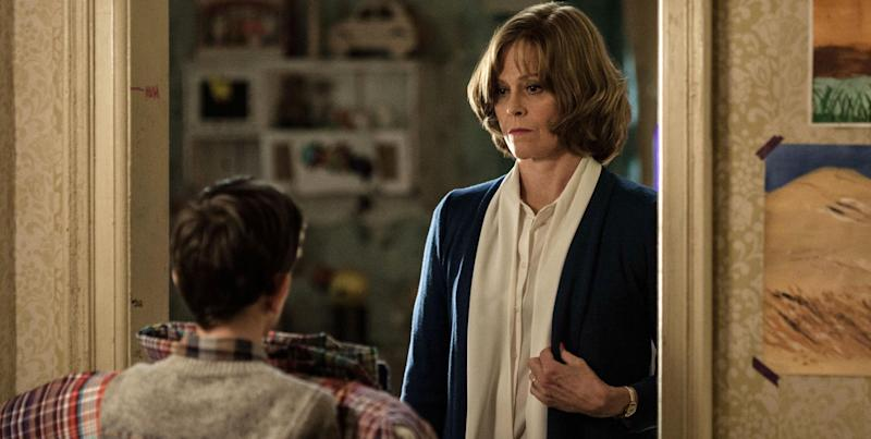 "This image released by Focus Features, Sigourney Weaver appears in a scene from ""A Monster Calls."" (Quim Vives /Focus Features via AP)"