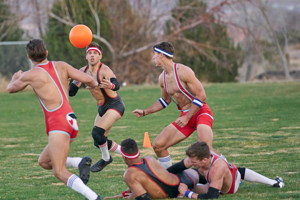 """An intense game of so called """"Bash ball""""  ends early after a frightening injury."""