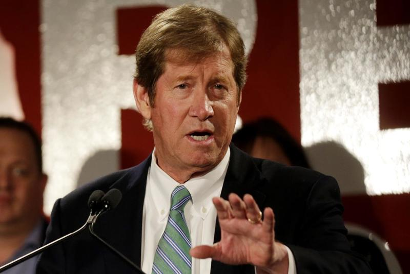Former Rep. Jason Lewis makes his concession speech after losing his reelection bid in 2018.