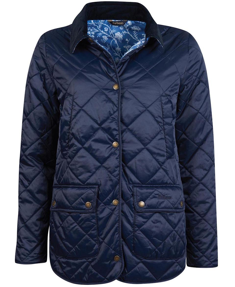 """<p><strong>Barbour</strong></p><p>macys.com</p><p><strong>$250.00</strong></p><p><a href=""""https://go.redirectingat.com?id=74968X1596630&url=https%3A%2F%2Fwww.macys.com%2Fshop%2Fproduct%2Fbarbour-laura-ashley-spruce-quilted-jacket%3FID%3D11214536&sref=https%3A%2F%2Fwww.townandcountrymag.com%2Fstyle%2Ffashion-trends%2Fg34362467%2Fbarbour-laura-ashley-collaboration-2020%2F"""" rel=""""nofollow noopener"""" target=""""_blank"""" data-ylk=""""slk:Shop Now"""" class=""""link rapid-noclick-resp"""">Shop Now</a></p>"""