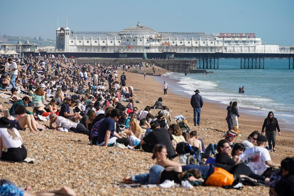 Brighton Beach during a heat wave (Getty Images)