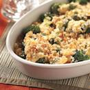 <p>This broccoli side dish is made irresistible with Gouda cheese and can be served with something simple in flavor, such as a pork roast or grilled pork chops.</p>