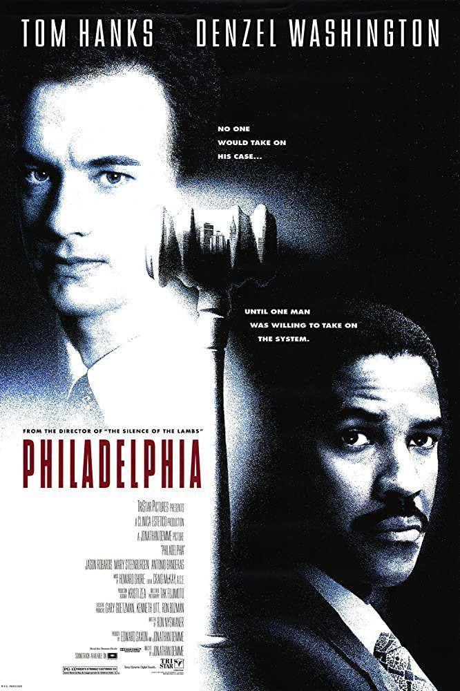 """<p>The 1993 Denzel Washington and Tom Hanks film explored the HIV/AIDS epidemic. It was among the <a href=""""https://emen8.com.au/entertainment/film_and-tv/nine-iconic-hiv-aids-films-1985-now/"""" rel=""""nofollow noopener"""" target=""""_blank"""" data-ylk=""""slk:first mainstream movies"""" class=""""link rapid-noclick-resp"""">first mainstream movies</a> to delve into the topic and won praise from movie critic <a href=""""https://www.rogerebert.com/reviews/philadelphia-1994"""" rel=""""nofollow noopener"""" target=""""_blank"""" data-ylk=""""slk:Roger Ebert for its portrayal"""" class=""""link rapid-noclick-resp"""">Roger Ebert for its portrayal</a> of the illness. """"<em>Philadelphia</em> is quite a good film, on its own terms. And for moviegoers with an antipathy to AIDS but an enthusiasm for stars like Tom Hanks and Denzel Washington, it may help to broaden understanding of the disease,"""" he wrote.</p>"""