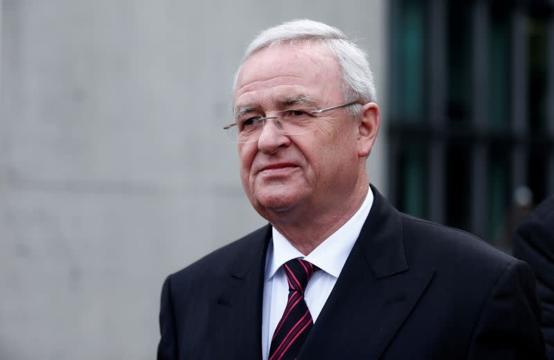 FILE PHOTO: FILE PHOTO: Former Volkswagen CEO Winterkorn leaves after testifying to a parliamentary committee on the carmaker's emissions scandal in Berlin