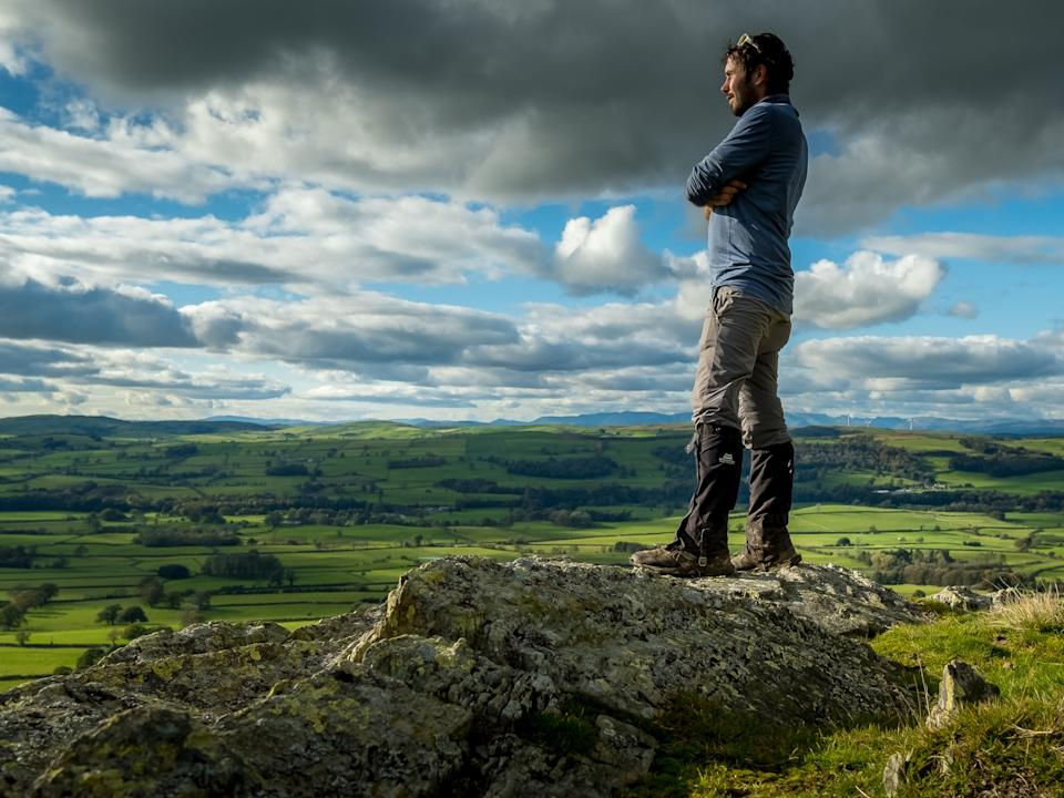 Peter hikes in the Yorkshire Dales during his first microchallenge (Peter Watson)
