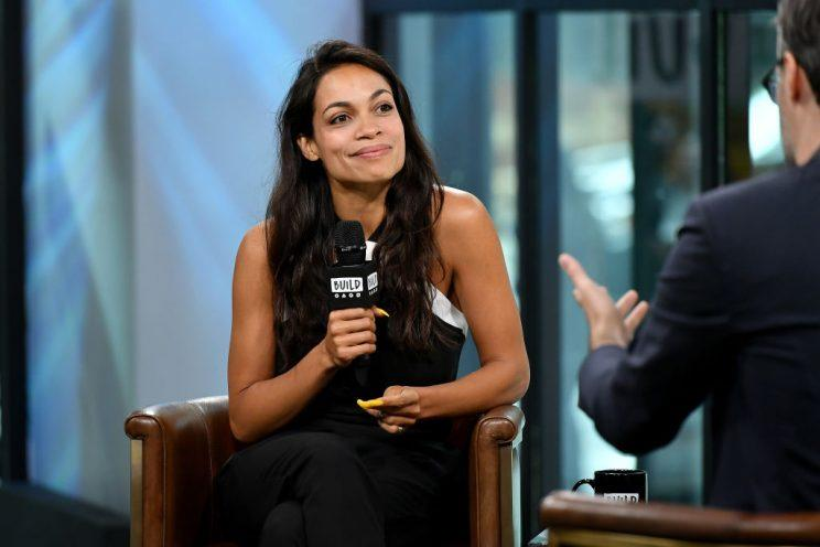 Rosario Dawson during her AOL Build interview on May 24, 2017.