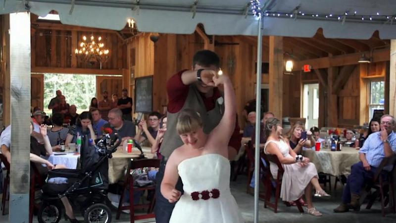Will and Hannah enjoyed their own first dance. Photo: SNWS/Mega