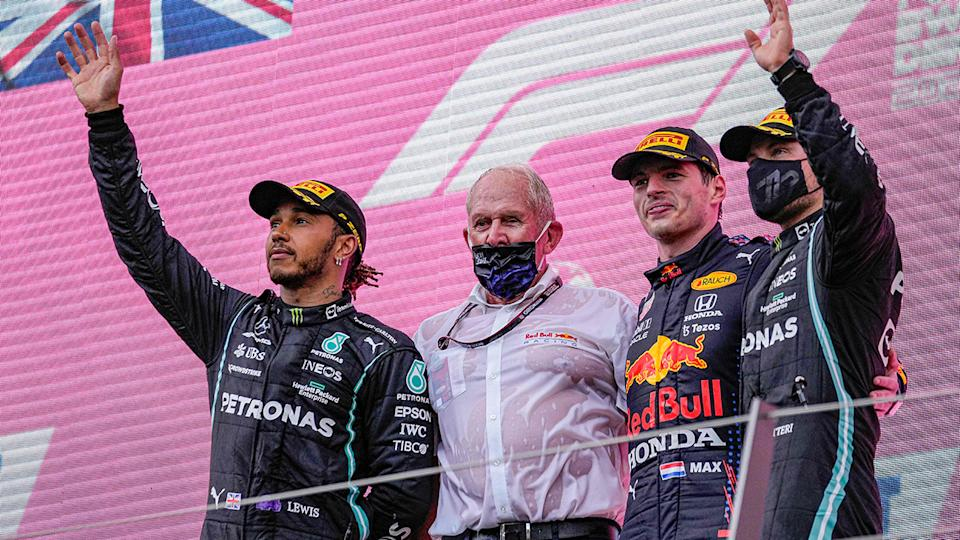 Max Verstappen won the Styrian Grand Prix ahead of Mercedes duo Lewis Hamilton and Valtteri Bottas. (Photo by DARKO VOJINOVIC/POOL/AFP via Getty Images)