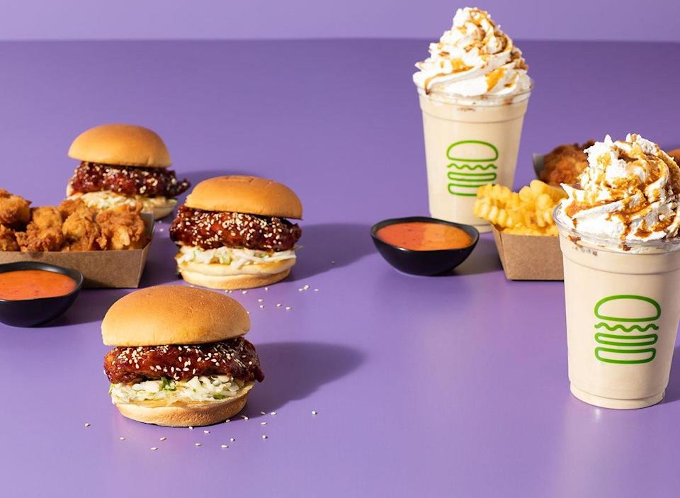 shake shack korean menu items