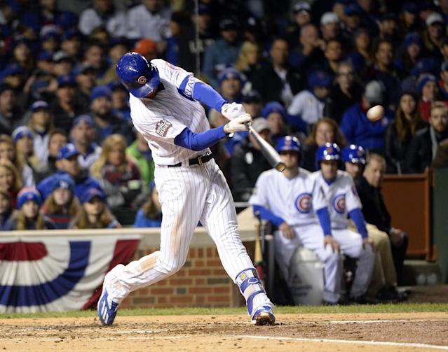 Kris Bryant's solo home run started a three-run fourth inning for the Cubs. (Getty)