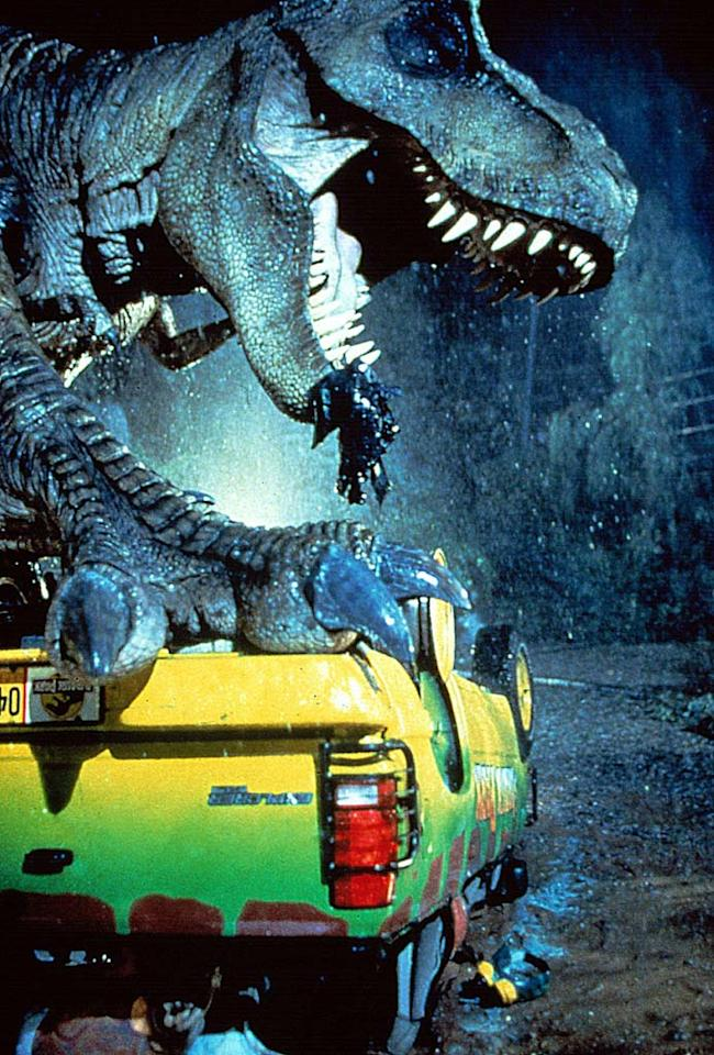 """T. Rex, """"<a href=""""http://movies.yahoo.com/movie/1800202853/info"""">Jurassic Park</a>""""<br><br>With a penchant for SUVs, human flesh, and even fellow dinosaurs, the ferocious female T. Rex roared her way on to the big screen in 1993, proving that not all leading ladies prefer salad."""