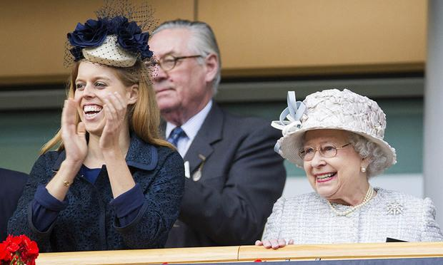 Princess Beatrice with grandmother, Queen Elizabeth II