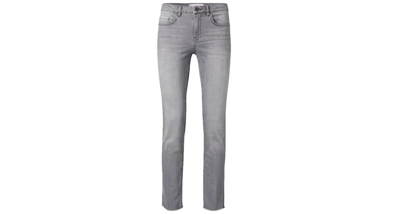 Yaya Straight Jeans with Frayed Hems