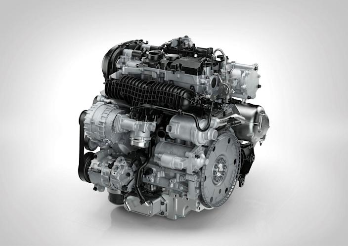 <p>Volvo offers three powertrains, starting with the entry-level T5, a 250-hp turbocharged four-cylinder engine. The mid-level T6 (pictured here) is a turbocharged <em>and</em> supercharged four-cylinder engine making 316 horsepower. Finally, the range-topping T8 is a 400-hp plug-in hybrid powertrain with two electric motors assisting the turbocharged and supercharge engine from the T6. </p>