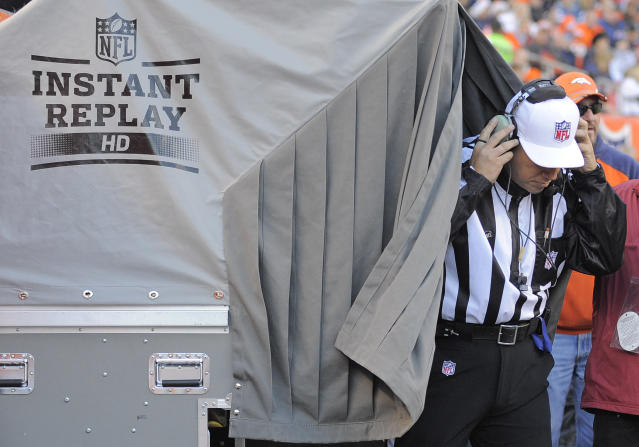 """There is a decent chance a certain power outlet at NFL's Gameday Central has a large """"DO NOT PLUG IN MICROWAVE"""" sign above it these days. (AP Photo/Jack Dempsey, File)"""