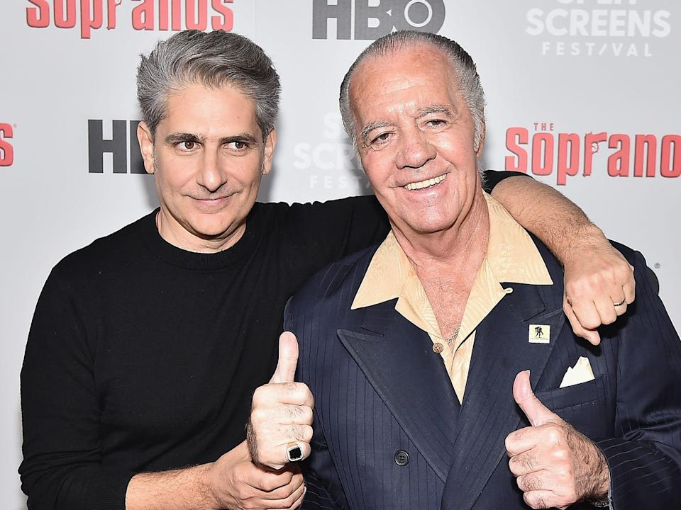 Michael Imperioli and Tony Sirico in 2019.