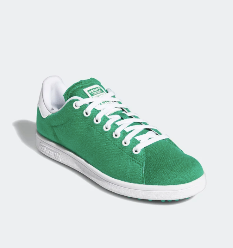 """<p><strong>Adidas</strong></p><p>adidas.com</p><p><strong>$120.00</strong></p><p><a href=""""https://go.skimresources.com?id=74968X1525079&xs=1&url=https%3A%2F%2Fwww.adidas.com%2Fus%2Fgolf-shoes"""" rel=""""nofollow noopener"""" target=""""_blank"""" data-ylk=""""slk:Shop Now"""" class=""""link rapid-noclick-resp"""">Shop Now</a></p><p>Add a bit of style to his tee time with Stan Smith's sustainable golf kicks. Made from high-performance recycled materials, the shoe has a silhouette that nods to vintage styles.</p>"""