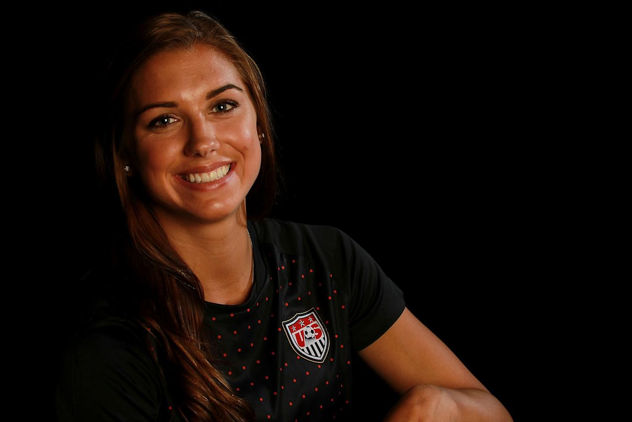 DALLAS, TX - MAY 15:  Soccer player, Alex Morgan, poses for a portrait during the 2012 Team USA Media Summit on May 15, 2012 in Dallas, Texas.  (Photo by Ronald Martinez/Getty Images)
