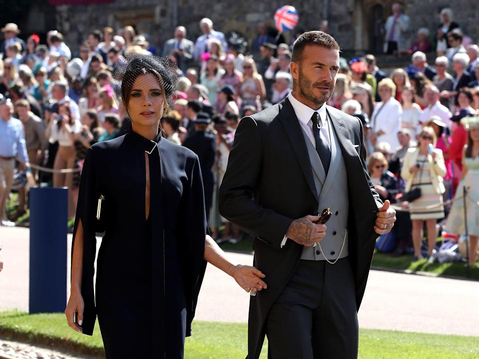 David and Victoria Beckham at Meghan and Harry's wedding
