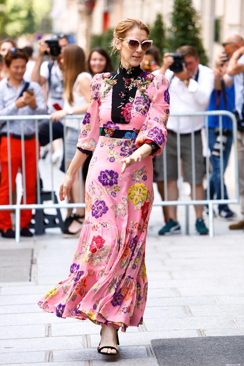 Céline Dion Blesses Her Fans in Paris While Wearing Gucci