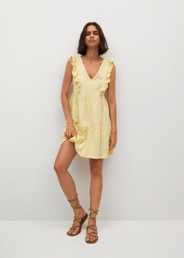 Mango Organic cotton ruffled dress. Image via Mango.