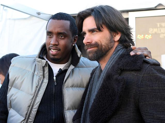 "<p>Sean ""Diddy"" Combs and John Stamos — co-stars in the 2008 TV movie <em>A Raisin in the Sun</em> — made for one gorgeous photo. (Photo: Clayton Chase/WireImage) </p>"