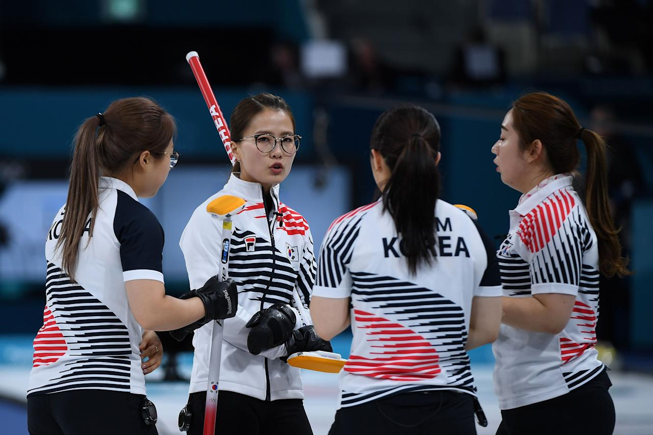 South Korean curlers known as the 'Garlic Girls'