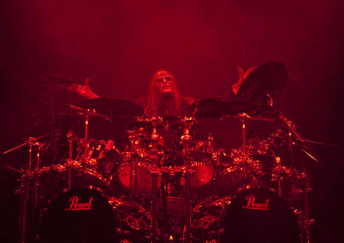 Joey Jordison onstage with Slipknot in 2009 - Credit: AP Images