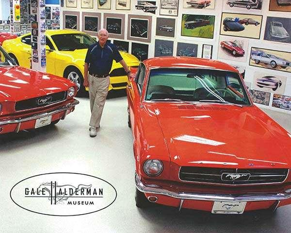 """<img src=""""gale-museum.jpg"""" alt=""""Gale Halderman at the museum he created about the Ford Mustang design"""">"""