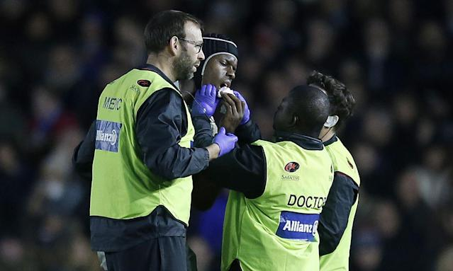 Maro Itoje suffered a broken jaw in Saracens' defeat to Harlequins on Sunday.