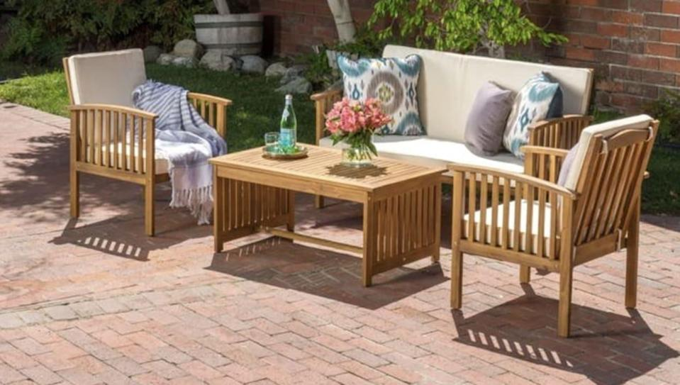 Overstock is having a super sale on patio furniture just in time for warm weather