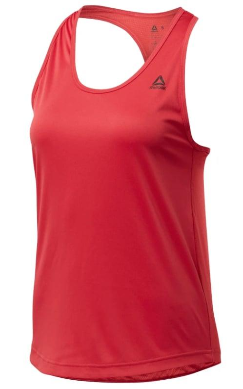 """<p>Pair your sports bra with a lightweight tank top like this one from <a href=""""https://www.popsugar.com/buy/US-Perform-Mesh-Tank-from-Reebok-478084?p_name=US%20Perform%20Mesh%20Tank%20from%20Reebok&retailer=reebok.com&pid=478084&price=23&evar1=fit%3Aus&evar9=46445638&list1=workout%20clothes%2Cworkouts%2Ccrossfit&prop13=api&pdata=1"""" rel=""""nofollow"""" data-shoppable-link=""""1"""" target=""""_blank"""" class=""""ga-track"""" data-ga-category=""""Related"""" data-ga-label=""""https://www.reebok.com/us/us-perform-mesh-tank/FM0310.html"""" data-ga-action=""""In-Line Links"""">US Perform Mesh Tank from Reebok</a> ($23). It's perfect for wiping the sweat off your face!</p>"""