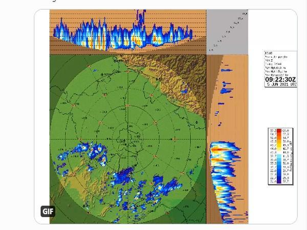 Graphical respresentation of rains in Northern India (Photo/IMD)