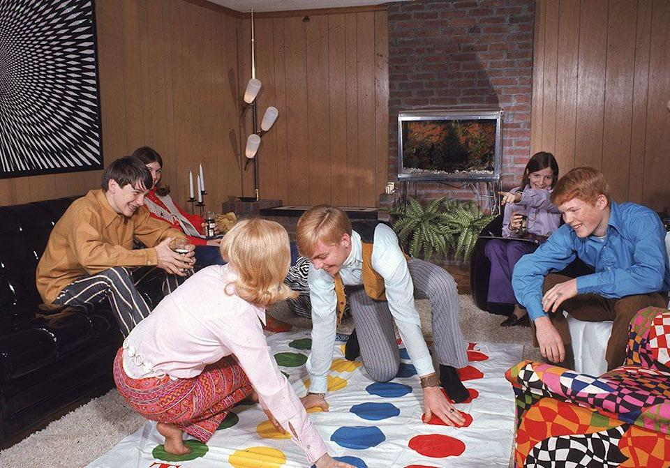 "<p>When Milton Bradley's Twister was initially released it was deemed too sexual by a few critics, which resulted in poor sales. This all changed when a PR team convinced Johnny Carson to play it with Eva Gabor on his show. People were lined up in the street the very next day to <a href=""https://www.goodhousekeeping.com/childrens-products/g4627/1980s-games/"" rel=""nofollow noopener"" target=""_blank"" data-ylk=""slk:snag the game"" class=""link rapid-noclick-resp"">snag the game</a> and three million plastic polka dot mats were sold the following year. </p>"
