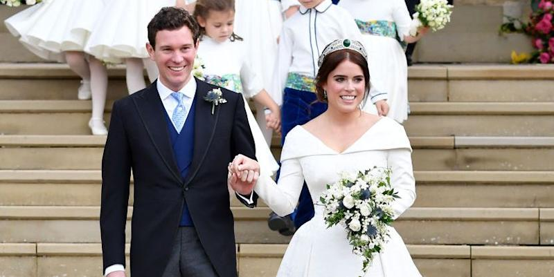 Princess Eugenie Changed into a Second Dress for Her Reception and ...
