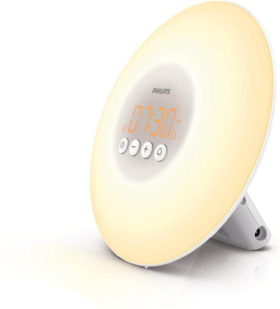 <p>This <span>Philips Wake-Up Light Alarm Clock </span> ($40, originally $50) lets them wake up with the sun, even if it's raining.</p>
