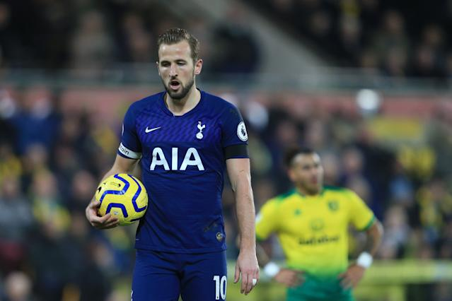 Harry Kane scored from the spot for his 11th Premier League goal of the season. (Photo by Stephen Pond/Getty Images)