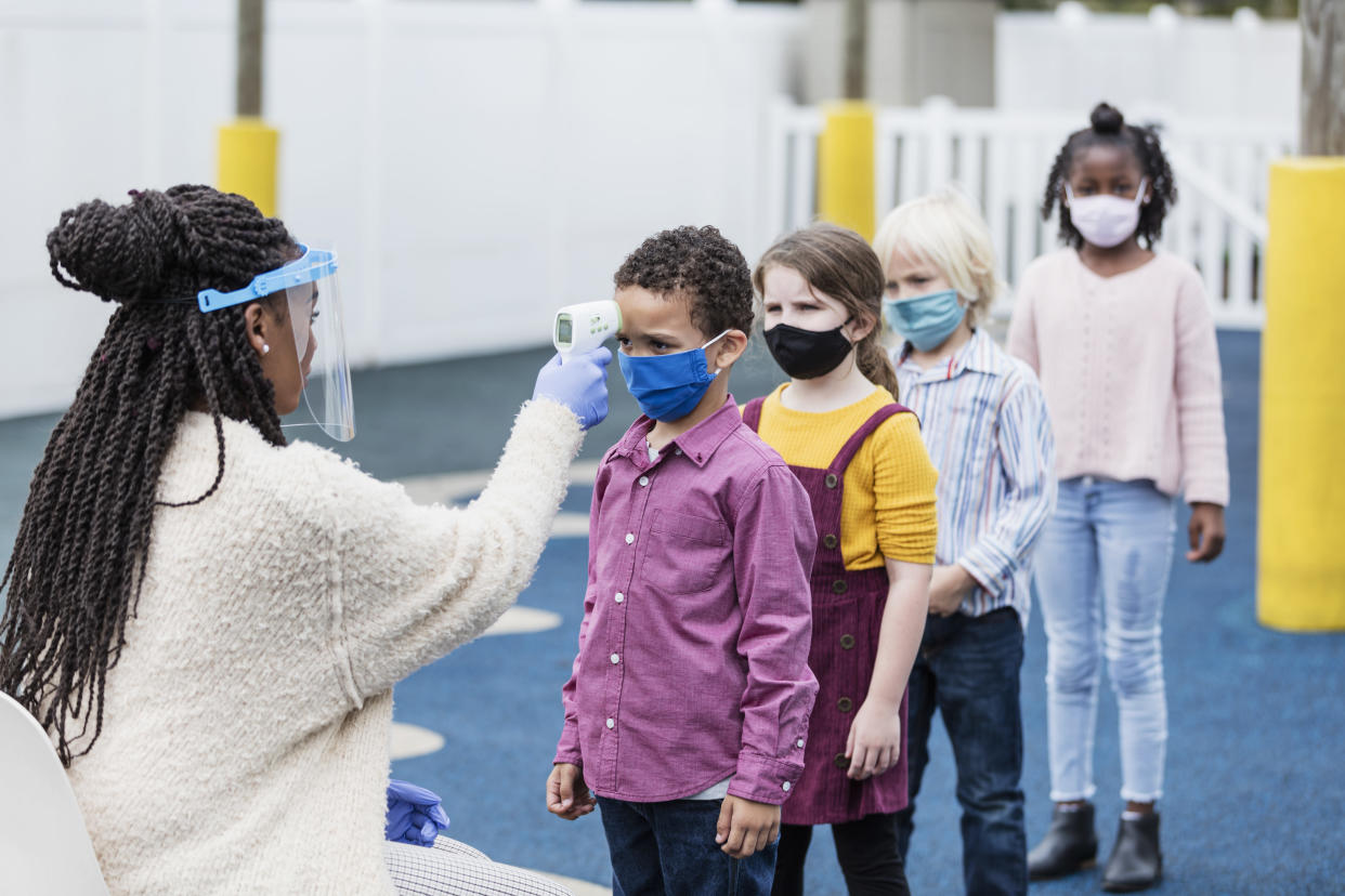 School nurses, as well as administrators are being taxed to the limit in many districts because of their extra pandemic-related duties — something that's prompted a New York District to hire a