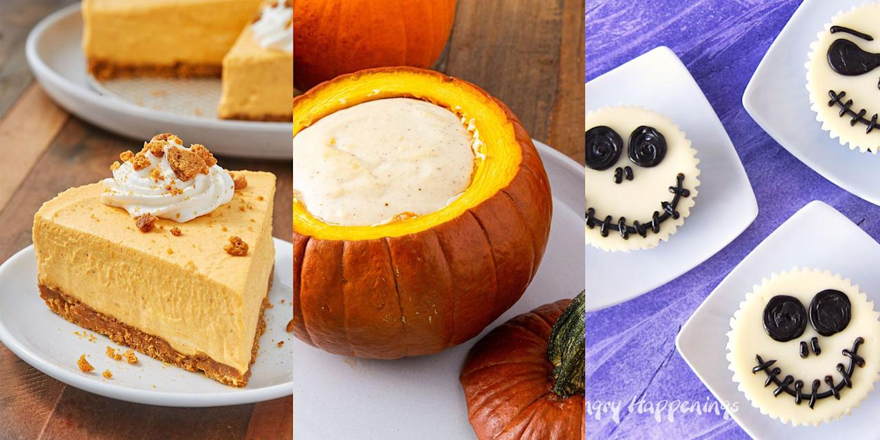 <p>Whether you're on the (witch)hunt for a Black Forest Cheesecake, Mini Death by Chocolate Cheesecakes or even Jack Skellington Cheesecakes, we've got plenty of delicious-tasting, easy options for you to choose from. </p>