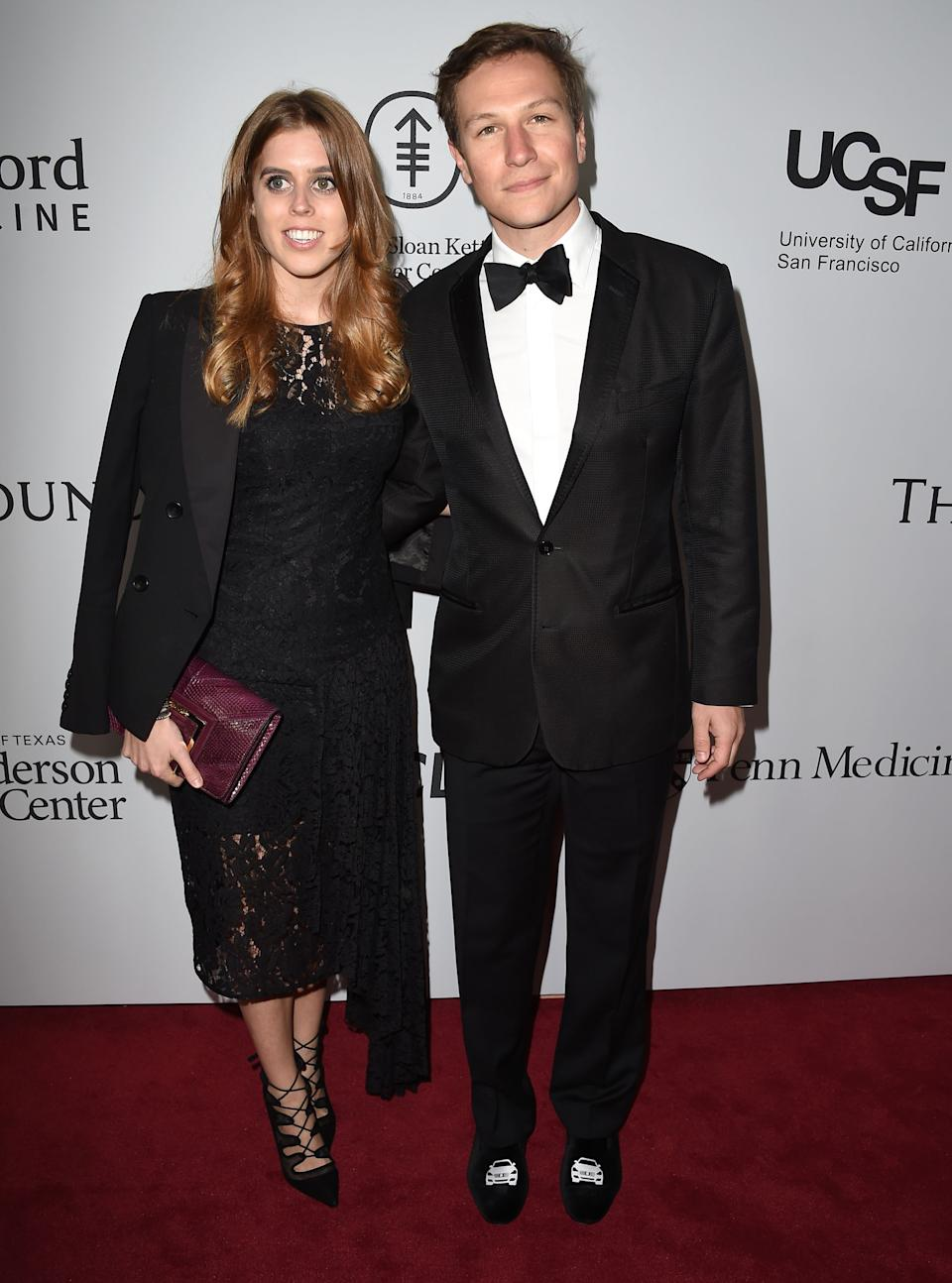 Princess Beatrice and her former boyfriend Dave Clark at a charity gala in 2016 [Photo: Getty]