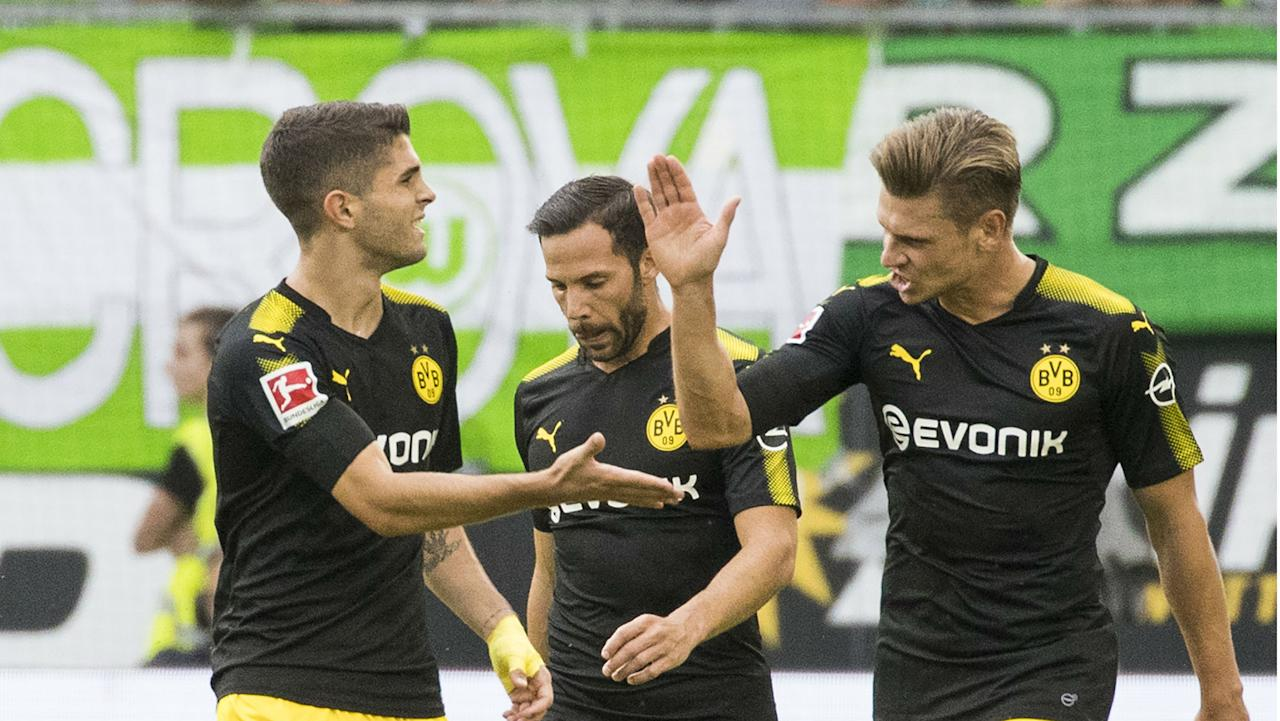 The U.S. star netted the first goal of Dortmund's Bundesliga season, while also becoming the youngest foreign player to score six in the top flight